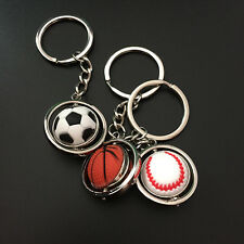 New Mini Sports Football Golf ball Baseball Basketball Keychain Key Ring Gift US