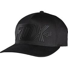NEW Fox Racing Mx Scaling Fitted Motocross Hat Mens Black Moto Flexfit Cap