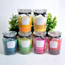 40 Hours 8.5x13cm  SCENTED PILLAR GLASS JAR CANDLE FUMAR 4 SCENTS AVAILABLE