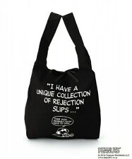 PEANUTS SNOOPY Tote Bag Shoulder Shopping Purse Handbag Black from Japan K1291