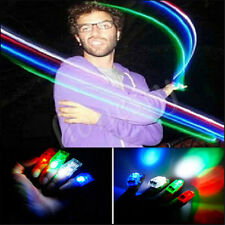 4pc LED Finger Lights Lamps Party Laser Finger NEW Light Torch Glow Ring