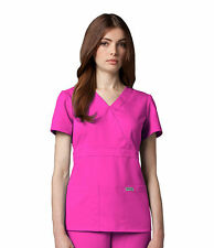 Greys Anatomy 4153 Cosmo Junior Fit  3 Pocket Mock Wrap Scrub Top