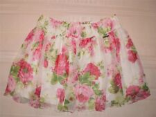 NWT ABERCROMBIE by Hollister White Rose FLORAL Tier MINI SKIRT