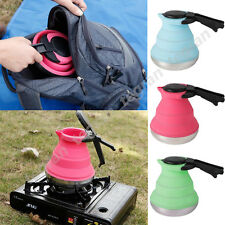 Collapsible Kettle  Camping Fishing Folding Pop-Up Gas Stove Hot Water Pot NEW