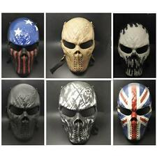 6 Type Skull Skeleton Full Face Mask Tactical Paintball Airsoft Protect Safe CS