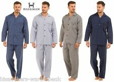 Haigman Nightwear Mens Poplin 100% Cotton 7491 Pyjamas Pajamas Pjs Set UK