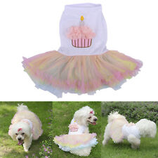 Doggie Lace Tutu Skirt Chihuahua Pet Puppy Dog Birthday Cake Dress Clothes New