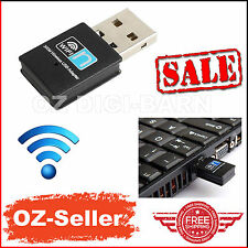 Mini USB 802.11b/g/n WiFi N Wireless Adapter Dongle Network PC Laptop 300Mbps