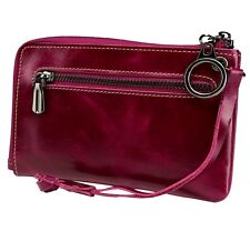 Genuine Leather Zipper Wallet Womens Clutch Purse Checkbook Card Holder New