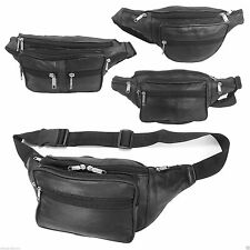 TRAVEL LEATHER BUM BAG MONEY WAIST BELT FANNY PACK HOLIDAY FESTIVAL MONEY POUCH