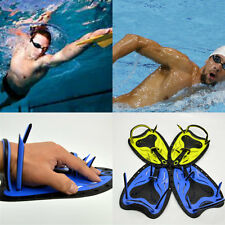Water Resistance Fins Hand Glove Training Fingerless Flippers Paddle Swim Gloves