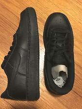 Nike AIR FORCE 1 PS Black Basic Shoes Youth Kids Boys Childs Low Sneakers 314193