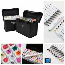 60 Colour Touch Five Graphic Art Sketch Twin Marker Pen Broad Fine Point Drawing