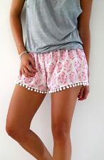 Newest Womens Beach Mini Shorts High Waist Cute Ball edge Sexy Floral Print
