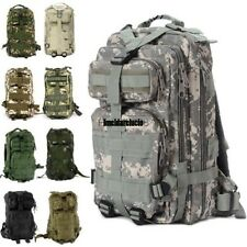 3P Tactical Military Backpack Camouflage Camping Hiking Rucksack Large Durable#