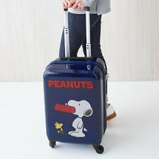 PEANUTS SNOOPY Travel Luggage Carry On Bag Suitcase Suit Case from Japan E2027