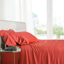 Queen Luxury Bamboo Ultra Cool Soft 100% Viscose From Bamboo 4 PC Sheet Set