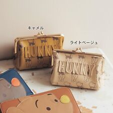 Disney HUNNY Pooh Wallet Makeup Pouch Cosmetic Bag Coin Purse Case Japan E2796