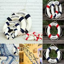 Welcome Aboard Nautical Wall Door Cafe Ship Boat Ring Life Buoy Preserver Decor