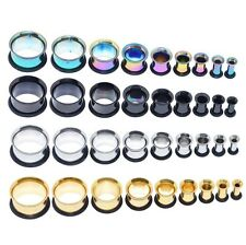 9PAIR Stainless Steel Ear Tunnel Plug-Single Flared Ear Gauge Kit-Gauge 3MM-16MM
