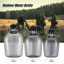 500ml/750ml/1000ml Tactical Water Bottle Handle Drinking Container Military I8L3