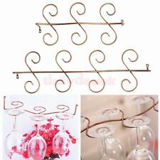 Vintage Stainless Steel Wine Glass Rack Holder Stemware Goblet Storage 6/8 Glass