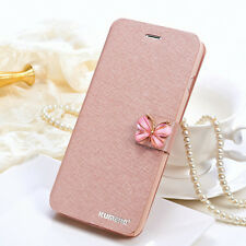 Luxury Crystal Ultra Slim Leather Flip Case Cover For Apple iPhone 7 6 6S Plus