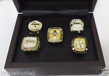 Kobe Bryant LA Los Angeles Lakers Championship Rings set of 5  Sizes 9-13 GIFT