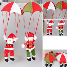 Xmas Parachute Snowman Santa Christmas Tree Hanging Decor Festive Ornaments Gift