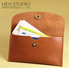 Real Leather Business Credit Card Case ID Cash Holder Small Thin Wallet Casual