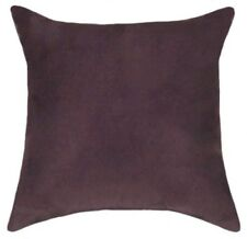 Purple Throw Pillow, Solid Plum Purple Solid Faux Suede Decorative Throw Pillow