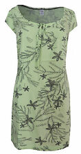 New White Stuff size 10 - 16 Green Mint Grey Floral Palm Print Tunic Top