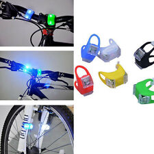 NEW Silicone Frog Style Bike Bicycle LED Rear Light 3 Modes Waterproof Tail Lamp