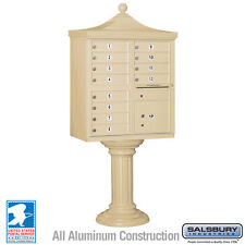 12 Door Salsbury Regency Decorative Cluster Mailbox - USPS Approved - 5 Colors