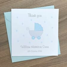 Handmade Personalised Baby Thank You Cards