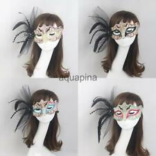 Women Feather Venetian Mask Masquerade Ball Carnival Eyewear Party Decor