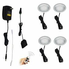 Recessed Under Cabinet LED Lighting 4 Lamps Kit with Wireless RF Remote Control