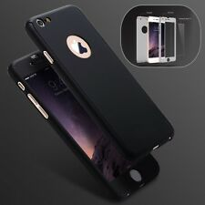 HYBRID 360° HARD ULTRA THIN CASE + TEMPERED GLASS COVER FOR iPhone 7 / 7 Plus