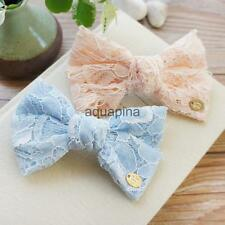 Lady Girl Wedding Bridemaid Bow Lace Hair Clipper Head Barrette Hair Accessories