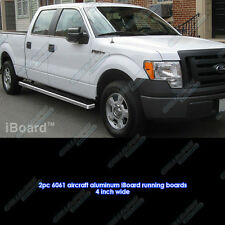 "iBoard Running Boards 4"" Fit 09-14 Ford F-150 SuperCrew Cab"
