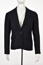 Marc Jacobs Womens Black Blazer Sz 8 Cotton Long Sleeve Career Jacket