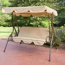 2 Person Covered Porch Swing Outdoor Patio Furniture Deck Backyard Canopy Bench