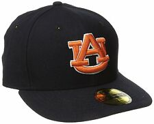 NCAA Auburn Tigers 7 College Basic New Era 59FIFTY Cap Fitted Hat FAST SHIPPING!