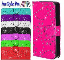 Bling Diamond Magnetic Flip Wallet PU Leather Case Cover For Apple iPhone 6 6S