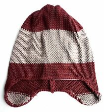 GAP Baby Boys Knit GREY RED BURGUNDY Knitted Trapper Winter Hat 0-24m £9.95