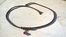 Natural Carnelian necklace man, mens surfer rope necklace, red Agate necklace me