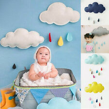 Removable Cloud Raindrop Wall Stickers Nursery Baby Kids Boys Girls Room Decor