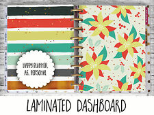 Christmas Poinsettia - Dashboard - Happy Planner, Filofax A5 or Personal size