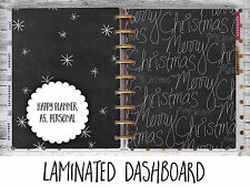Chalkboard Christmas - Dashboard - Happy Planner, Filofax A5 or Personal size