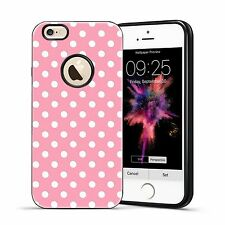Hybrid Textured Polka Dots TPU Shockproof Slim Case For iPhone SE 5 5S 6 6S Plus